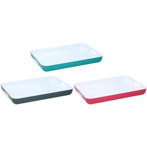 Serveringsbakke i 3 ass. farver