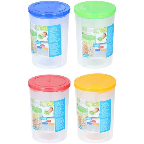 3 delt opbevaringsbeholder i plast.