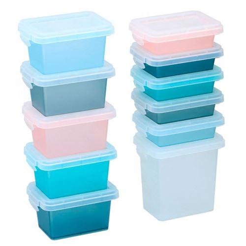 Opbevaringsbeholder m/låg i plast