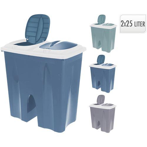 Affaldsspand m/2rum