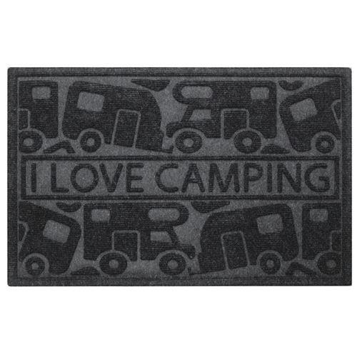 Dørmåtte 'I love camping', Str. 40 x 60 cm.