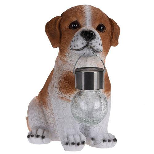 Hund med lampe, Led Solar