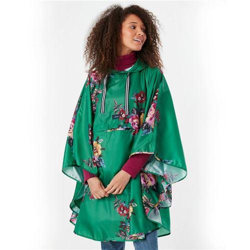 Joules Green Flower Regntæt Poncho - Packaway