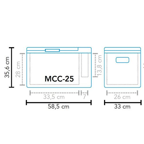 Mestic kompressor køleboks MCC-25 AC/DC