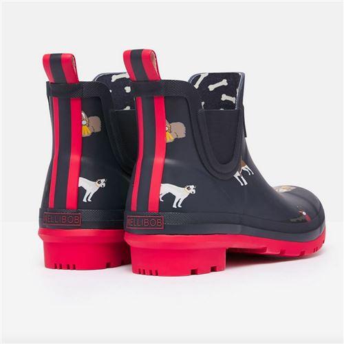 Tom Joules gummistøvle kort - Navy dogs