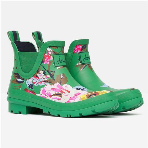 Tom Joules gummistøvle kort - Green Flowers