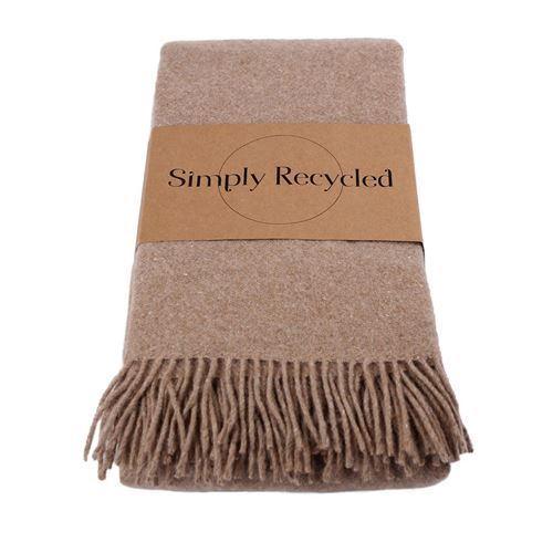 Uldplaid Recycled - Camel | Kundeklubtilbud