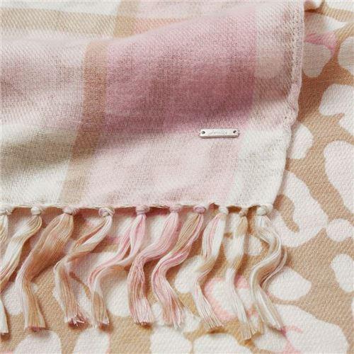 Joules tørklæde Cream Check Leopard