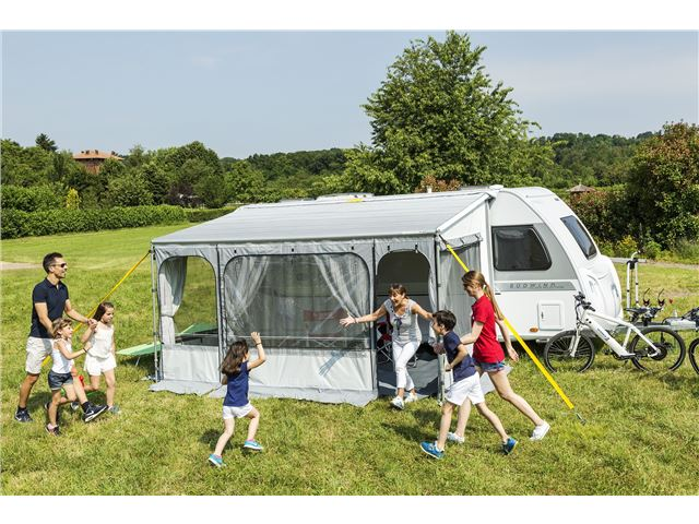 Posemarkise med telt, Caravanstore ZIP XL 550 - Royal Grey