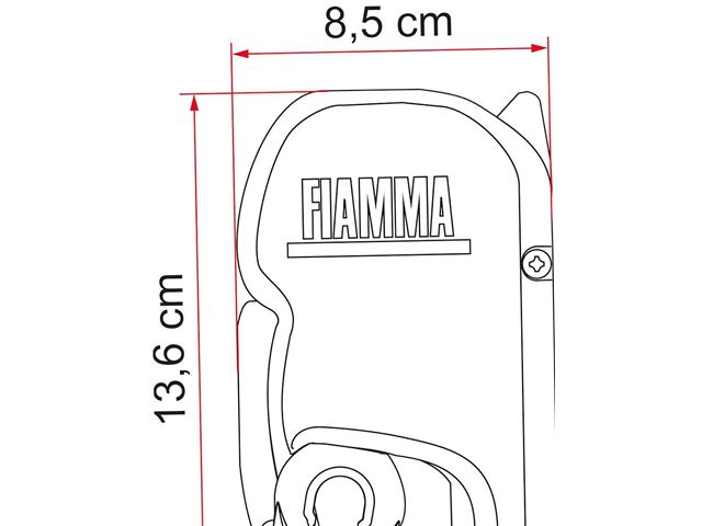 Markise Fiamma F45S 260 - Royal Grey. L:263 cm x D:200 cm