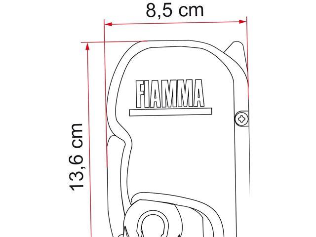 Markise Fiamma F45L 500 - Royal Grey. L:504 cm x D:250 cm