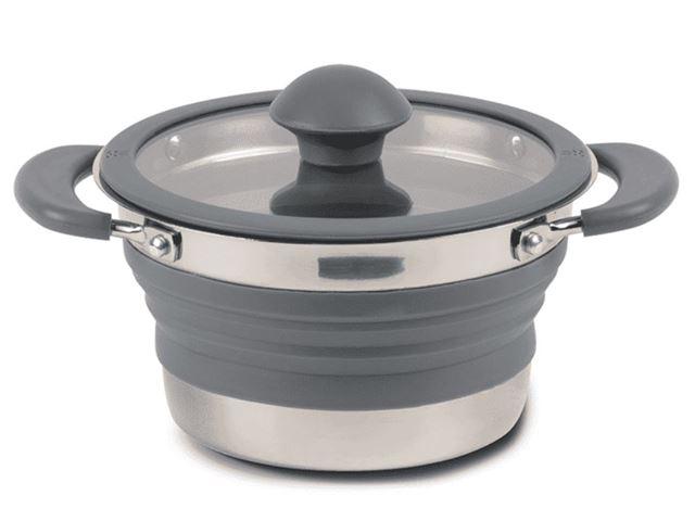 Folding Saucepan 1,0 Litre Grey