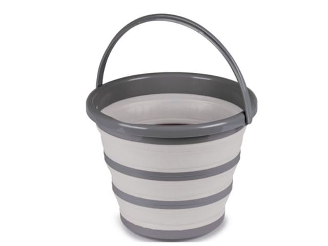Collapsible Bucket 10l - Grey