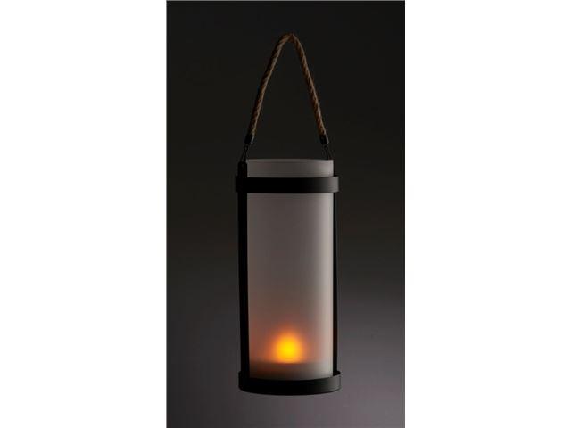 Lanterne Living Light til ophæng, med frostet glas