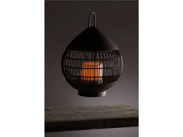 Lanterne Living Light Kuglekanterne af net med LED sterinlys
