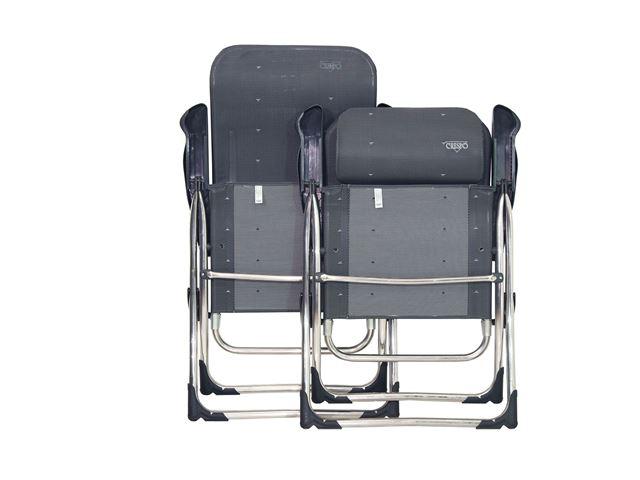 Crespo højrygget stol med justerbar nakkessøtte, Grå