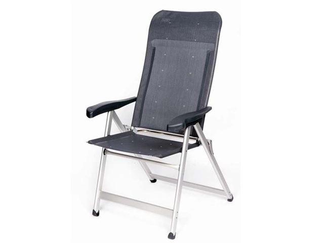 Crespo positionsstol med ekstra høj ryg og 7 positioner, Grå