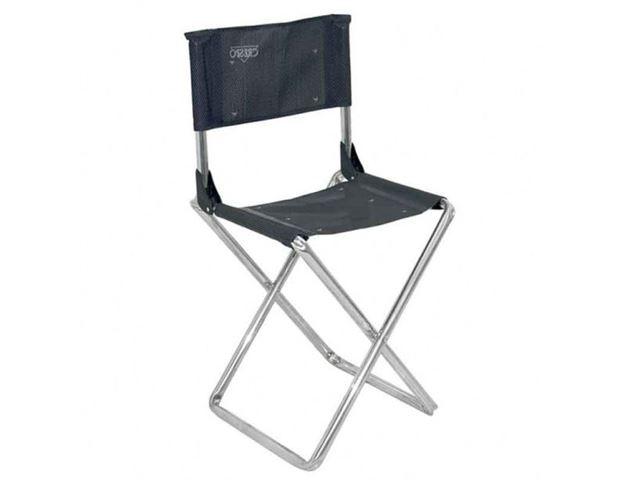 Crespo klapstol med ryglæn grå