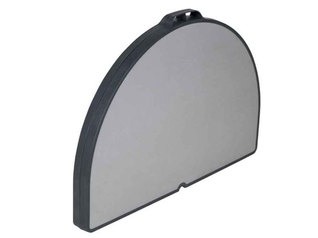 Crespo kuffertbord ovalt 120 x 90 cm grå