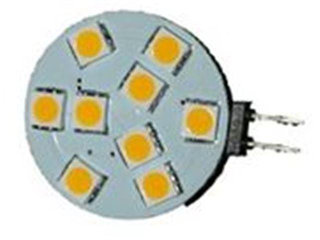 9 LED G4 flad varm hvid