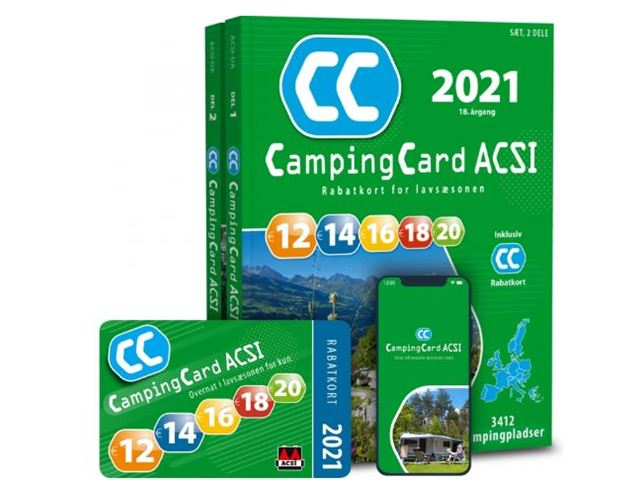 ACSI Campingbog med CampingCard 2022