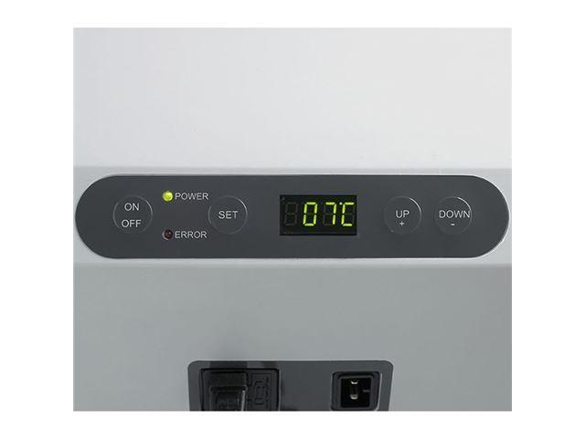 MobiCool Kompressor køleboks på 31L, 12V/230V, blå/grå