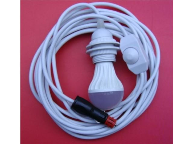 LED fortelt lampesæt 12V inkl. 230V-adapter