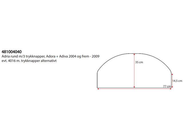 Hjulafdækning Enkelt Adria rund med 3 trykknapper