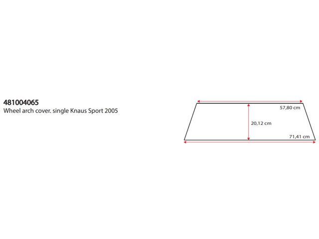 Hjulafdækning Enkelt Knaus Sport 2005