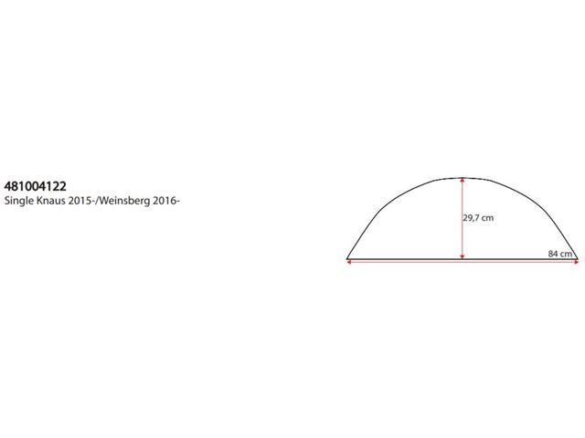 Hjulafdækning Enkelt Knaus 2015-16, Weinsberg 2017