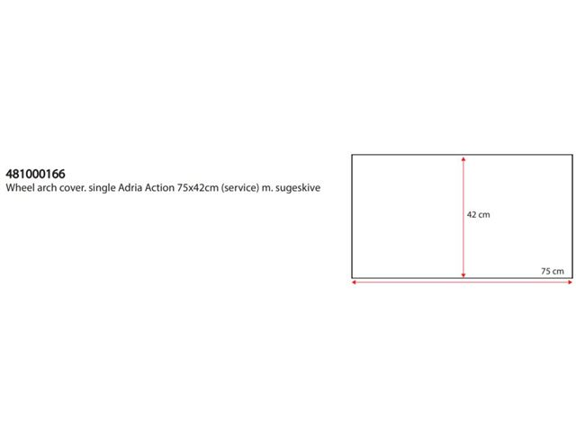 Hjulafdækning Enkelt med sugekopper Adria Action H:42cm
