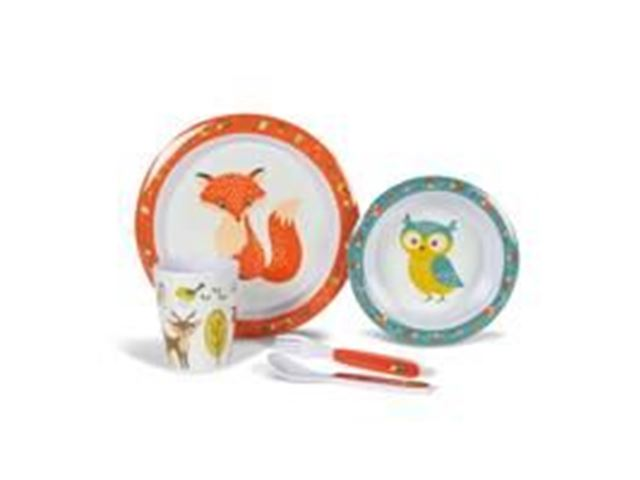 Woodland Creatures Children's Melamine