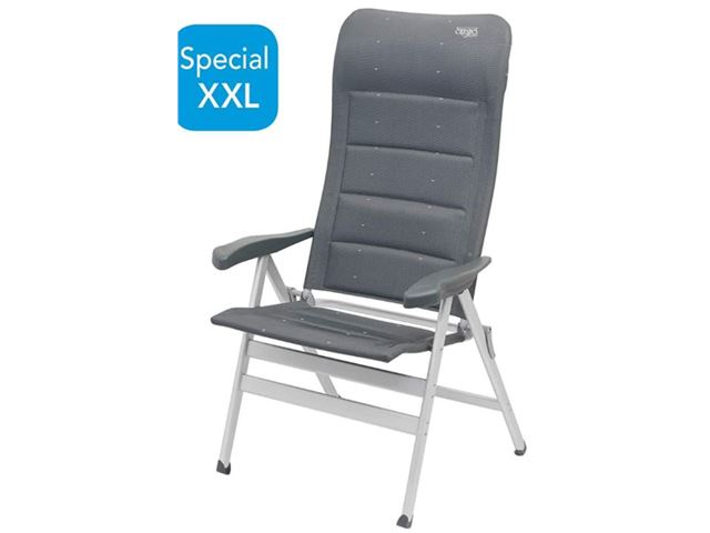 Crespo ergo luksusstol med hynde grå