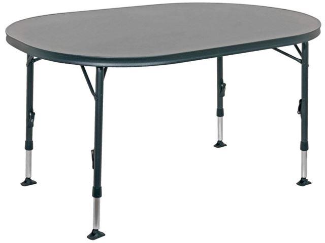 Crespo letvægtsbord ovalt 130 x91 cm med sort stel og stærk melamin bordplade