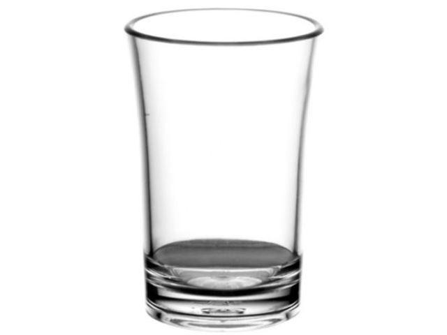 Shots glas 2 cl, 100% brudsikre glas, Polycarbonat