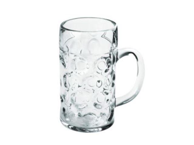 Ølglas m. hank, 50 cl, 100% brudsikre glas, Polycarbonat