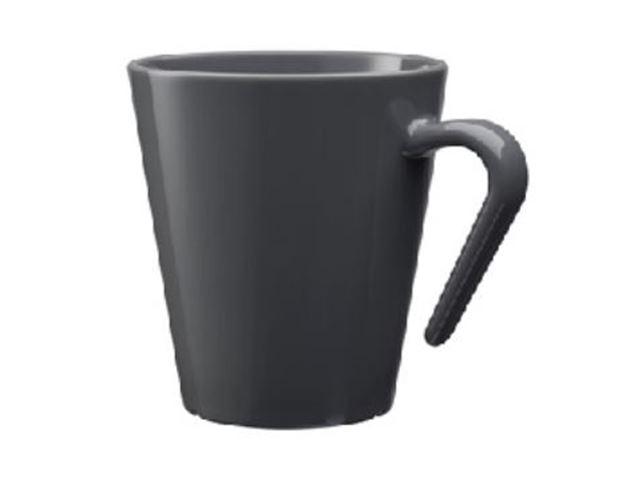 Kaffekrus mørkegrå, 100% brudsikre glas, Polycarbonat