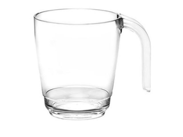 Kaffekop klar, 30 cl, 100% brudsikre glas, Polycarbonat