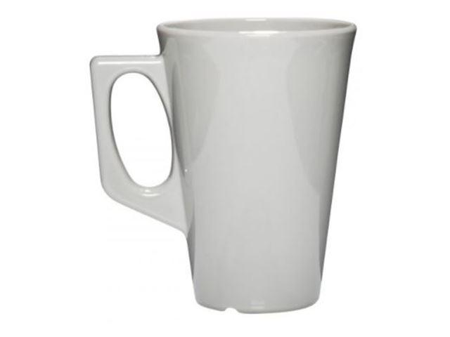 Kaffekrus grå, 26 cl, 100% brudsikre glas, Polycarbonat