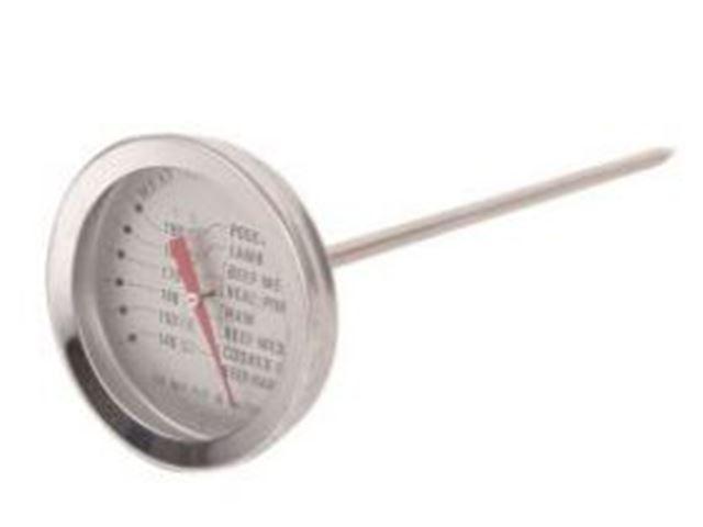 Grill Termometer, mål: 5,2 cm ø, længde 11 cm
