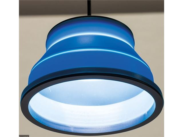 Groove - Pendant light blue