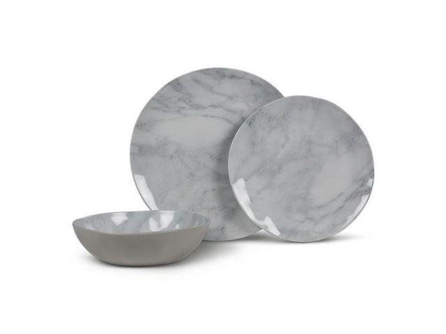 Kampa servicesæt 12 dele, Marble Artisan