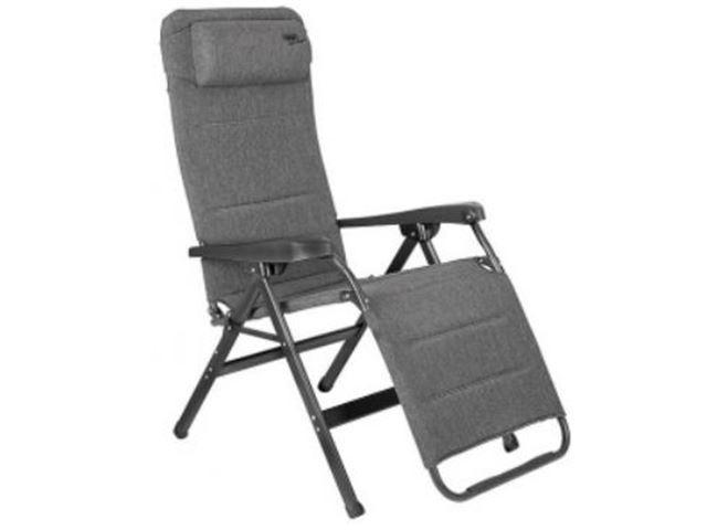 Crespo Relaxstol med justerbar nakkestøtte med grå Natu