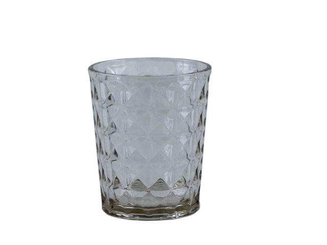 Gimex Stone Line glas, Sand - Sæt med 2 stk.