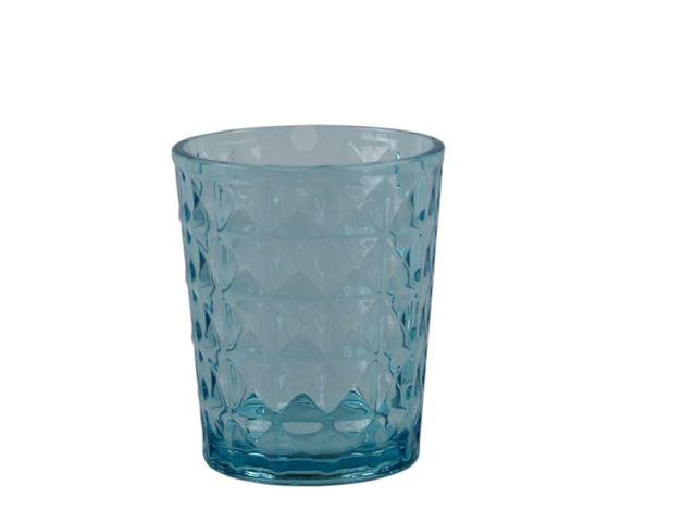 Vandglas Stone Line, Opale blå - Sæt med 2 stk.