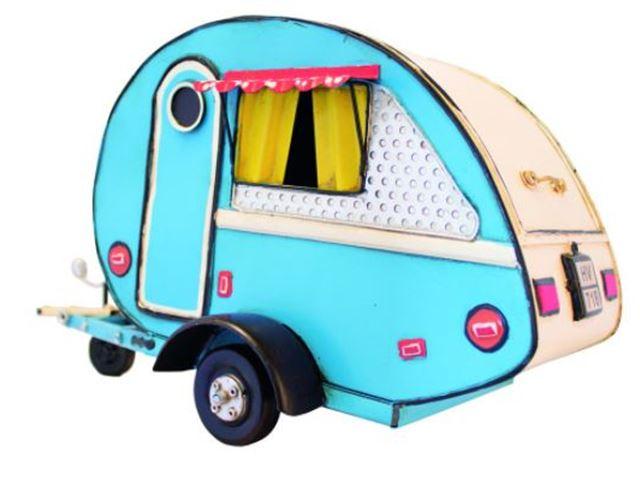 Campingvogn Blå Mini