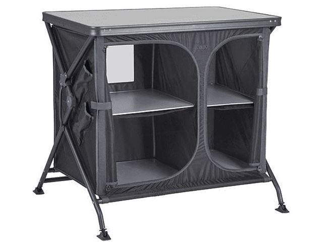 Crespo køkkenbord L92 x B68 x H84 cm, Sort med grå bordplade