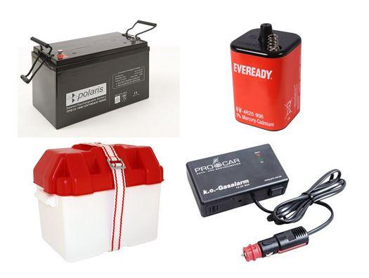 Batterier og alarmer Mv.