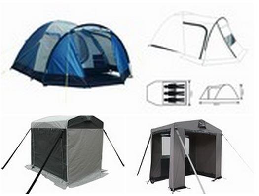 Små telte og Div. Teltudstyr.