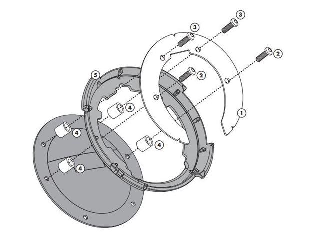 GIVI Tankring - Suzuki (7/8 hul) Yamaha (7 hul)